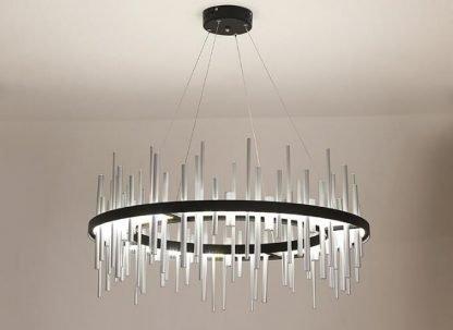 Geometric Integrated Chandelier Light Dining Room lights