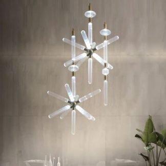 Gregorie Contemporary Snowflake Shape Pendant Light