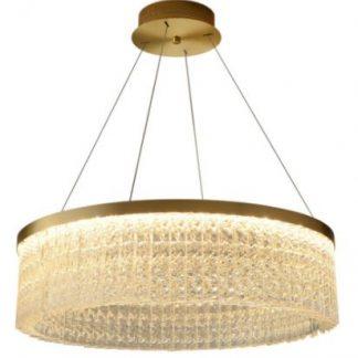 Gregos Luxury Circular Crystal Chandelier Light