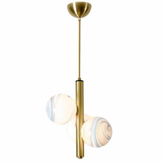 Herdis Modern Elegant Painted Glass Pendant Light