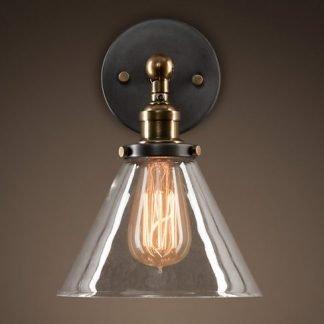 Jock Retro Industrial Glass Wall Lamp