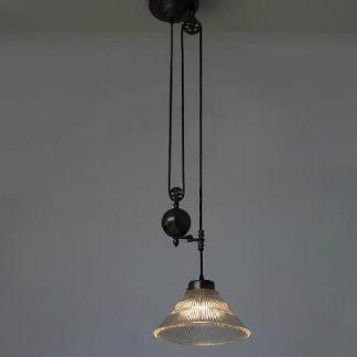 Maetthere Vintage Industrial Pulley Pendant Light