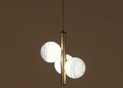 Painted Glass Pendant Light Bedroom lights