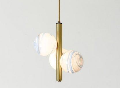 Painted Glass Pendant Light Kitchen Island lights