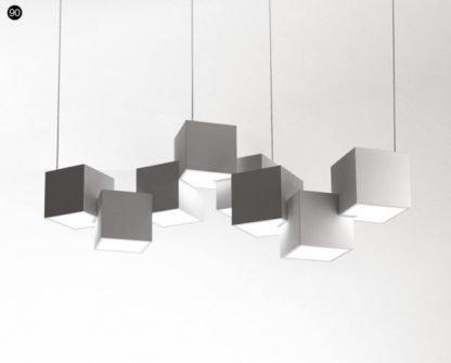 Pixel Shaped Pendant Light Reading Area Lamp