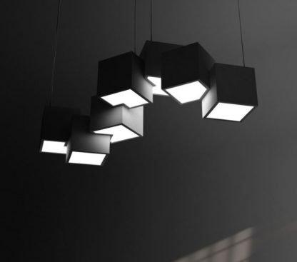 Pixel Shaped Pendant Light Workplace lights