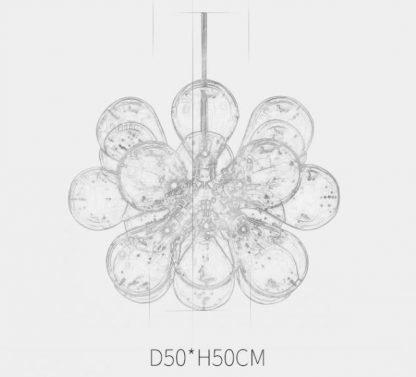 Glass Bouquet Pendant Light Modern lights