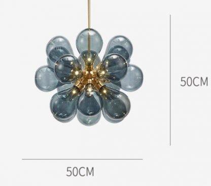 Glass Bouquet Pendant Light Modern lights dimensions